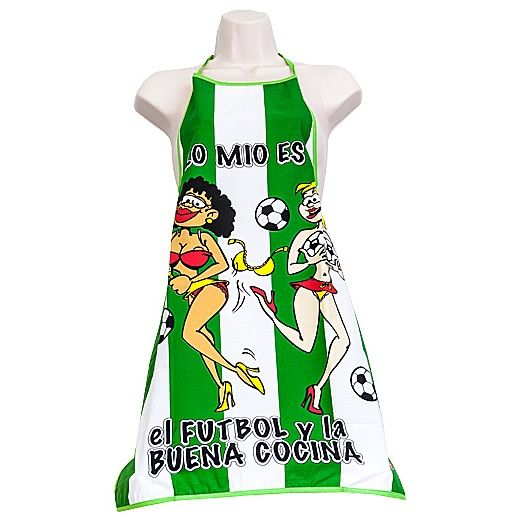 Gel Baño Frescor Verde Deliplus:DA Delantal de blanco y verde Su temática es el fútbol Diseño con