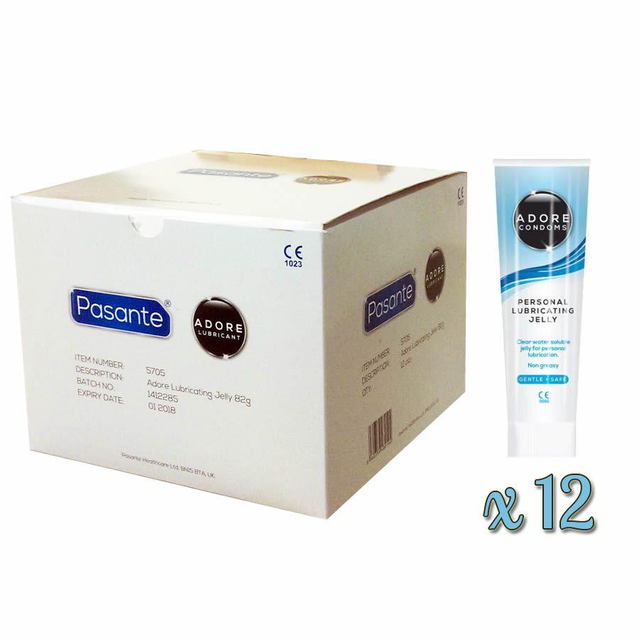 . Adore Nuevo pack de 12 lubricantes adore para formato profesional, destacan por su gran capacidad de lubricar y su base acuosa. Adore Lube x 12 .