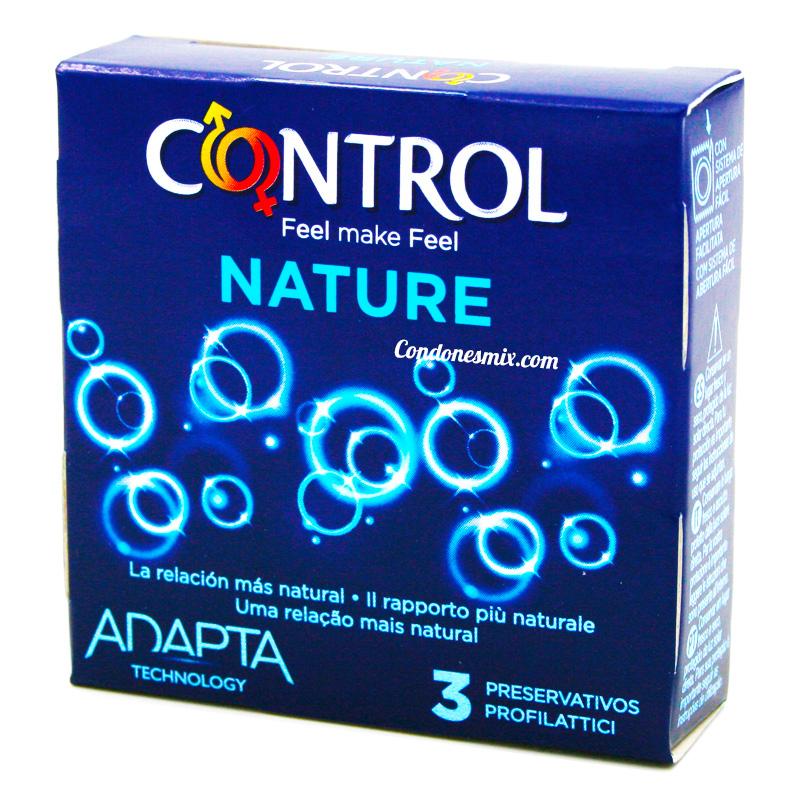 . Control Condones naturales con forma adapta para mayor comodidad. Los preservativos más tradicionales y naturales de la marca Control. Condones Control Nature 3 uds .