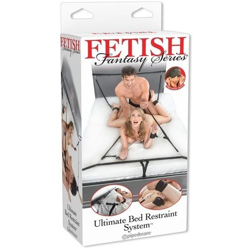 . Pipedream Fetish fantasy kit ataduras para la cama de Pipedream Máscaras y esposas Kit ataduras para la cama .