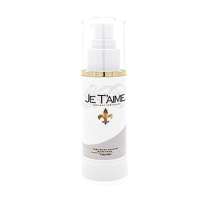 . Je Taime Lubricante con base acuosa con la particularidad que todos los ingredientes son naturales. All Natural 100 ml .