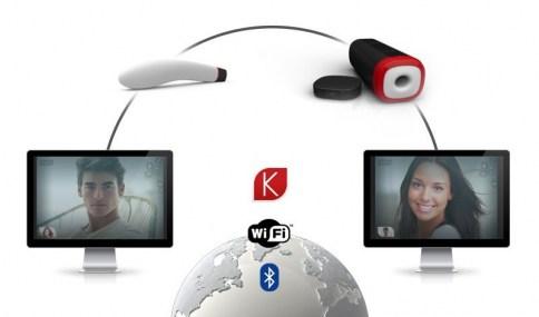 . Kiiroo Pearl es el vibrador Teledildonic más avanzado del mundo para el placer en línea para ella y Onix es el masturbador autónomo conectado para el; con un diseño ergonómico y curvo, especial punto G Pearl Kiiro .