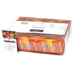 Pasante Preservativos de efecto calor, forma recta para mayor agarre. Con estrías por todo el condón, perfecto para estimulación femenina. Preservativos efecto Calor