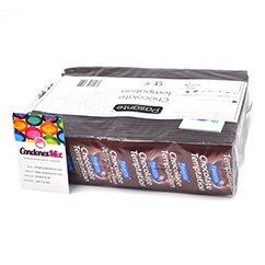 Pasante Preservativo de sabor Chocolate con forma recta para mayor ajuste y agarre. Perfecto para sexo oral, compatible con sexo vaginal y anal. Preservativos sabor Chocolate
