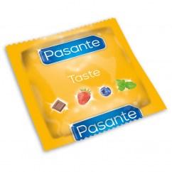 Pasante Pasante de Sabores: Variados: Menta, Chocolate, Fresa y Arándano. Condones de sabores y aromas auténticos. Sabores 144 uds