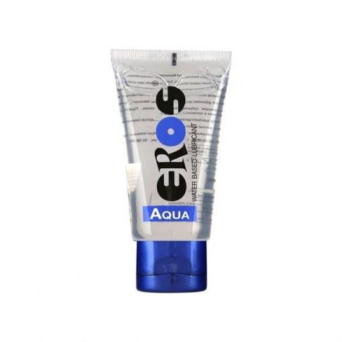 Eros Lubricante base acuosa no deja manchas ni es graso. Muy parecido a la lubricación natural. Ideal para suavizar/evitar las irritaciones o fricciones. Aqua Tube 50 ml