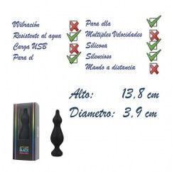 Adrien Lastic Placeres sin fin con este estimulador anal de fácil manejo y realizado con silicona de alto grado medico, agradable tacto de terciopelo y cabeza fina para una suave introducción. Amuse black