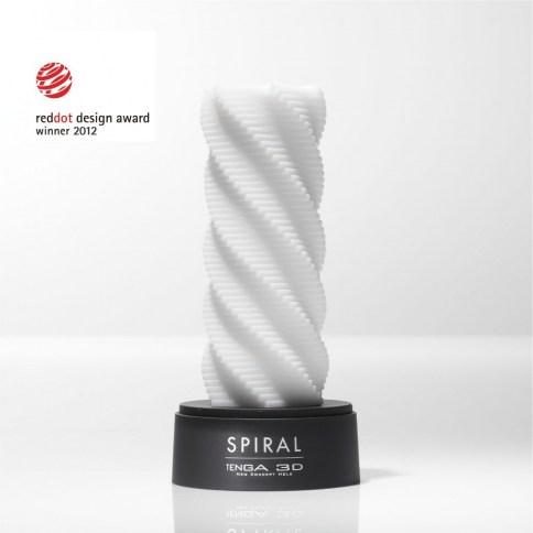 Tenga Diseño en espiral con una textura original, diseño ganador del premio reddot 3D Spiral