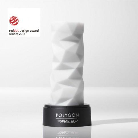 Tenga tiene una superficie deslizante, su diseño con varios triángulos que provocan una constricción firme y con sensación de ajuste. 3D Polygon