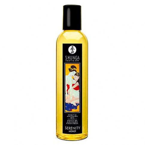 Shunga Aceite de masaje sensual de alta calidad, compuesto por una mezcla de aceites naturales esenciales. Aroma Ylang-Ylang. Aceite Masaje Monoi