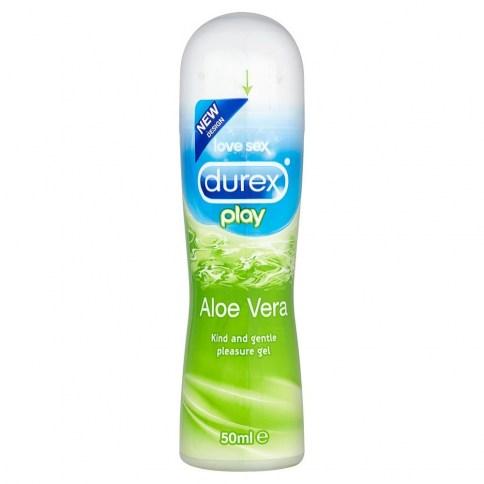 Durex Lubricante durex Aloe Vera con propiedades naturales que dejarán tu piel hidratada y sedosa. Play Aloe Vera 50 ml
