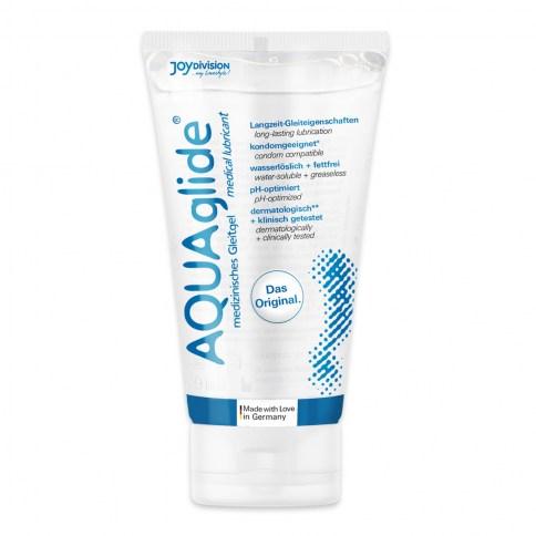 JoyDivision Lubricante base acuosa económico y sencillo. Reproduce la lubricación natural y facilita las relaciones sexuales. No mancha. Aquaglide 50 ml
