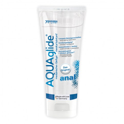 JoyDivision Lubricante a base de agua, extra deslizante para uso anal, de 100 ml.Ideal para relaciones anales. Aquaglide Anal 100 Ml.