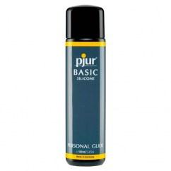Pjur Lubricante de larga duración 100 ml. De base silicona, con propiedades ultra deslizantes y más duración de su efecto. Basic Glide 100 ml