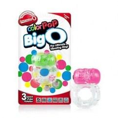 Screaming O Anillo vibrador con doble función y 3 modos de velocidad para brindar vibraciones más estimulantes a la chica y mantener erección al chico. Color Pop Neon Big O