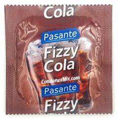 Pasante Preservativo con sorprendente sabor, aroma y color a Coca Cola. Cola