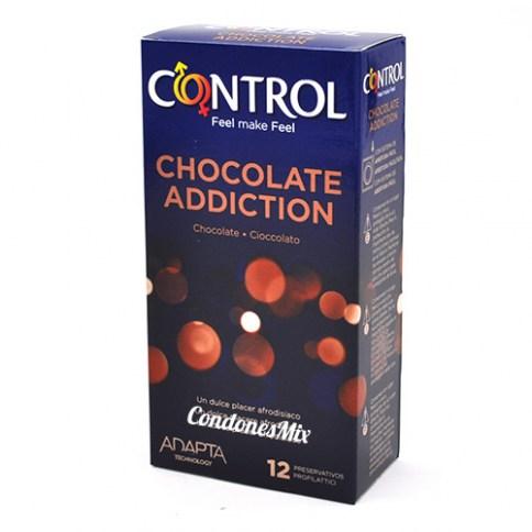 Control 12 Condones con autentico sabor a chocolate. Preservativos de color marrón y con aroma a intenso y dulce chocolate. Chocolate 12 uds