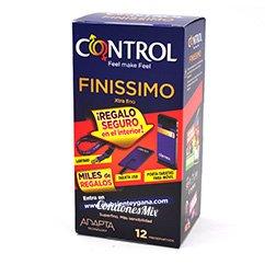 Control Promo: 3 gratis. Preservativo Finísimo de Control. Con grosor ultra fino, ideal para aquellos que quieren sentir piel con piel como si no llevarán nada. Forma Adapta. Finissimo 12 uds + 3