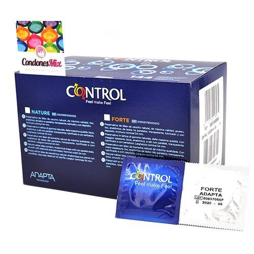 Control Preservativos extra resistentes, Control Adapta Forte. Forma anatómica. Condones recomendados para sexo anal gracias a su extra en lubricante. Forte 144 uds