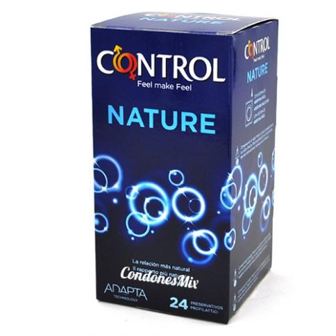 Control Condones Control natural 24 unidades. Si estás buscando el condón más natural y tradicional, este es tu modelo. Nature 24 uds