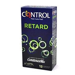 Control Condones con gel retardante en su interior para prolongar el orgasmo del chico. No afecta a la chica, no pierdes potencia. Forma adapta. Retardante 12 uds