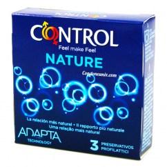 Control Condones naturales con forma adapta para mayor comodidad. Los preservativos más tradicionales y naturales de la marca Control. Condones Control Nature 3 uds