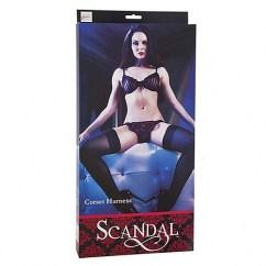 Scandal Arnés corset de lujo de la colección Scandal con costuras reforzadas dobles y unos preciosos y sensuales lazos en la parte trasera. Arnes Corset