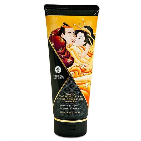 Shunga Crema de masaje Shunga con intenso aroma a almendras. Una crema que nutrirá y dejará tu piel suave y sedosa. Crema masaje almendra
