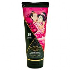 Shunga Crema de masaje con dulce aroma a Frambuesa salvaje. Perfecto acompañante para una noche romántica y diferente. Crema Masaje Frambuesa