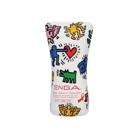 Tenga Soft Tube CUP con la firma Keith Haring, masturbador de la marca Tenga, que permite calibrar el nivel de presión a tu gusto. Keith Haring Soft Tube