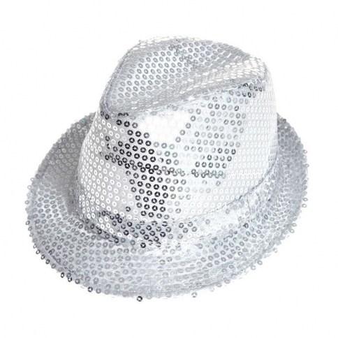 203 Aliv sombrero con lentejuelas plata 1