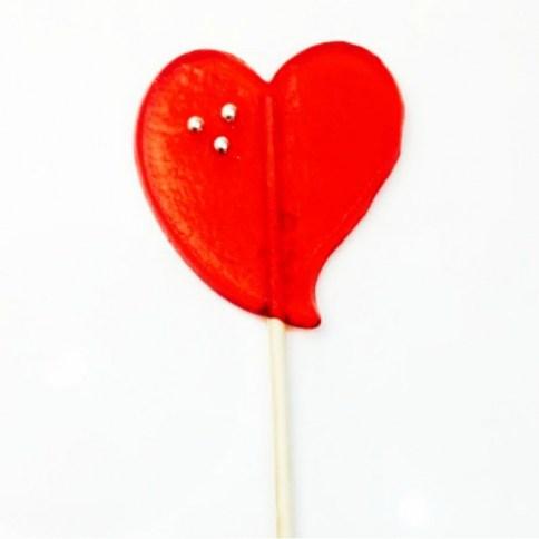 203 Piruleta corazon caramelo grande  sabor fresa 1
