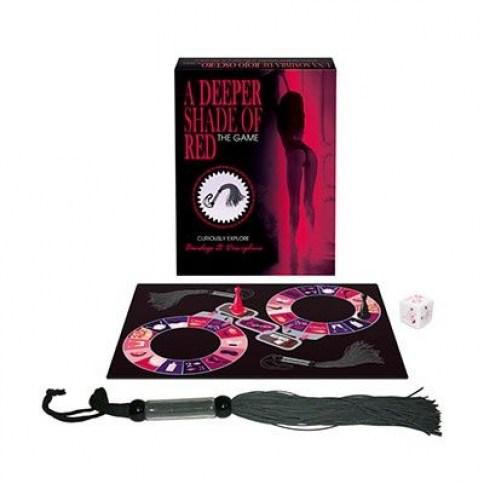 Keepher Games 50 Sombras de Rojo es el juego que permite explorar el bondage y el dolor placentero en un formato de mesa divertido simpático y desenfadado. Sombras de rojo oscuro