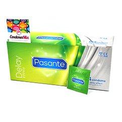 Pasante OFERTA POR CADUCIDAD CORTA! 07- 2017 Preservativo retardante con lidocaína de Pasante, marca premium. Forma Recta, para que se ajuste mejor a ti. Retardantes 144 uds