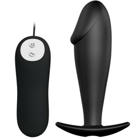 Disfruta del maravilloso placer de la estimulación anal con este plug de silicona con diseño en forma de pene