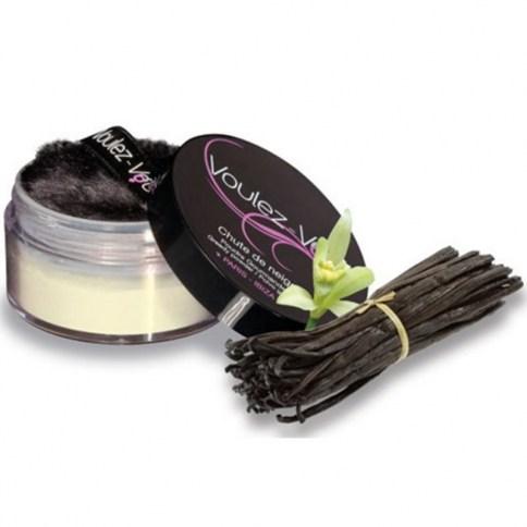 Polvos comestibles sabor vainilla perfectos para degustar cada rincón del cuerpo.