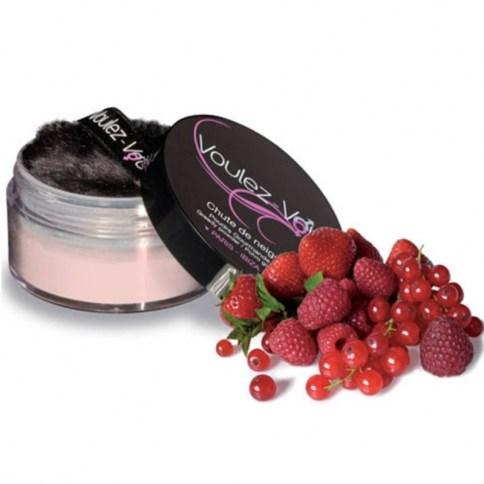 Polvos comestibles sabor frambuesa perfectos para degustar cada rincón del cuerpo.