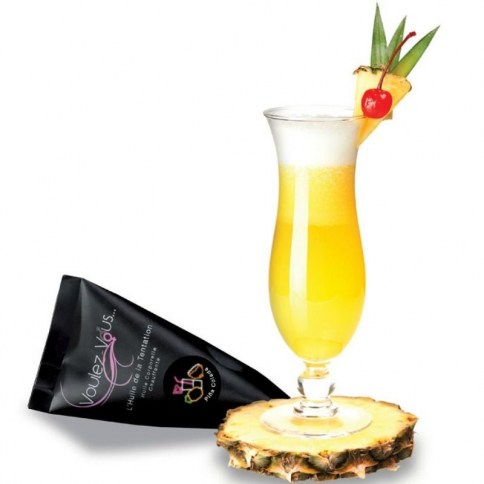 Aceite efecto calor con dulce aroma a Piña Colada 15 ml.