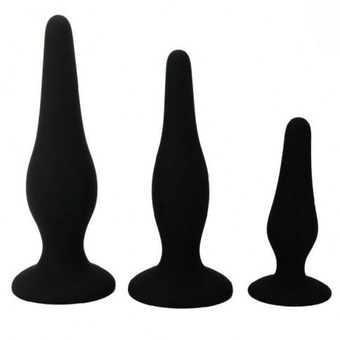 Son 3 plugs de silicona de alta calidad conlas medidas perfectas para iniciarse