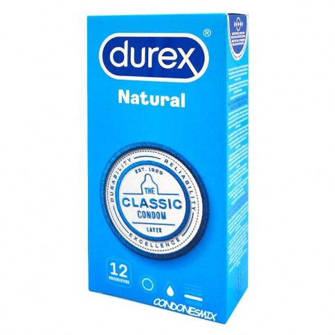 Durex Fabricados con látex de altísima calidad, muy fáciles de colocar gracias a su forma Easy On. Forma anatómica, para mayor comodidad. Natural Plus 12 uds