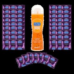 CM 100 Preservativos Durex Sensitivo y de regalo un lubricante Durex Play 50 ml Pack 100 Durex Sensitivo + 1 Lubricante gratis