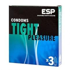 ESP Condón más estrecho para buscar ese ajuste ideal y así evitar deslizamientos incómodos. Forma recta Tight Pleasure 3 Uds