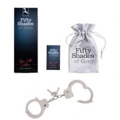 50 Sombras de Grey Esposas para practicar bondage Tu eres mía/o Esposas Metálicas Grey