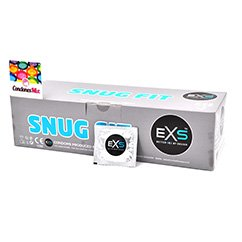 EXS Más estrecho de lo habitual, para evitar deslizamientos en el acto, talla XS. Condón más ajustado. Snug Fit 144 uds