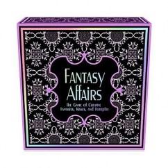 Keepher Games Juego de mesa para parejas, es un juego para dos jugadores que dispone de un tablero y tarjetas con pruebas, fantasías y acciones para realizar. Fantasy Affairs