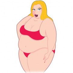 Pipedream Muñeca de tamaño generoso, para romper de una vez los canones de belleza. Disfruta de esta fantástica mujer a lo grande. Muñeca Mini Fatty Patty