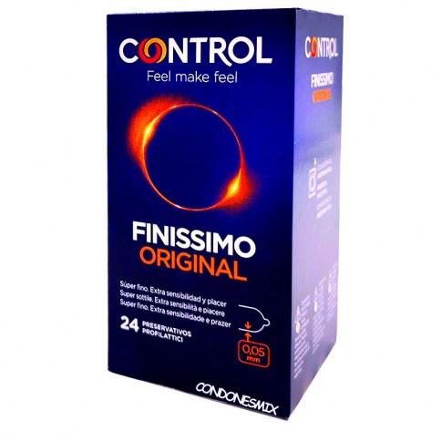 Control Promo: regalo seguro. Condones ultra finos. Siente a tu pareja con más intensidad, conservando la seguridad de cualquier preservativo. Preservativos sensitivos. Finissimo 24 uds