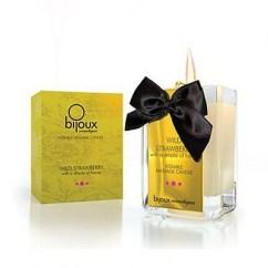 Bijoux Indiscrets Fantástica Vela que al estar un rato encendida se convertirá en un aceite para masaje muy suave. Vela Fresa