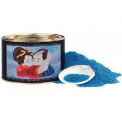 Shunga Sal de baño espumosa y con agradable aroma a fragancia Oceania. De color azul y propiedades curativas. Sales de baño Ocean