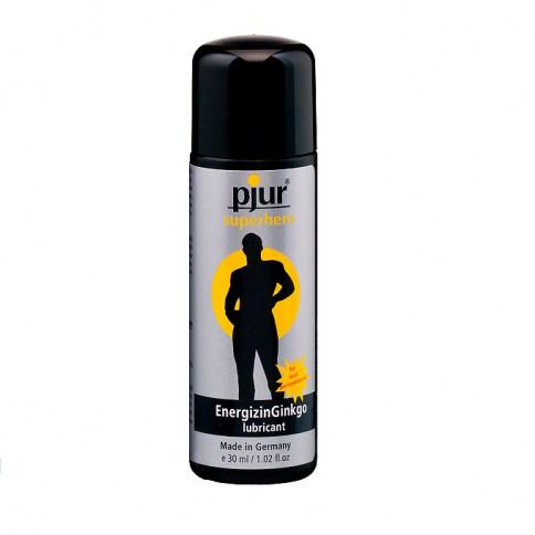 Pjur Lubricante de fórmula ecológica a base de agua con ginkgo. Propiedades vigorizantes y fortificantes Superhero Lubricante 30 ml.